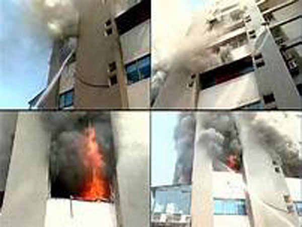 मुंबई एक्सचेंस बिल्डिंग में लगी आग, NCB का आफिस इसी बिल्डिंग में