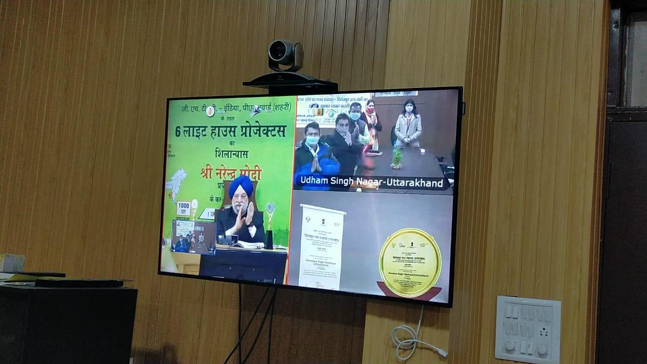 दिनेशपुर नगर पंचायत को देश भर में पहला स्थान, शहरी विकास मंत्री हरदीप पुरी ने ऑनलाइन दिया अवार्ड
