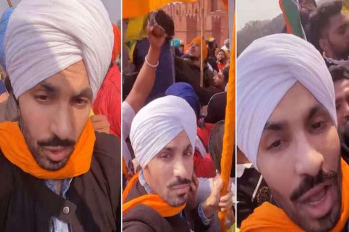 लालकिला की प्रचीर पर झंडा फहराने वाले अभिनेता दीप सिद्धू का नाम सुखिॅयों में