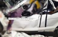 लखनऊ-आगरा एक्सप्रेस-वे पर खड़े ट्रक में घुसी कार, कटर से काटकर निकालनी पड़ीं 6 डेड बॉडी