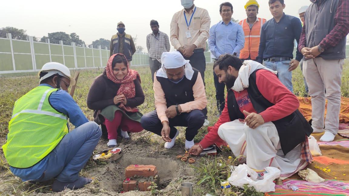 रुद्रपुर में बायो मीथेनेशन प्लांट लगाने के लिए हुआ भूमि पूजन