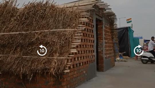 दिल्ली की सीमाओं पर पक्के मकान बना रहे हैं किसान, कीमत से लेकर जरूरत तक जानें सब कुछ