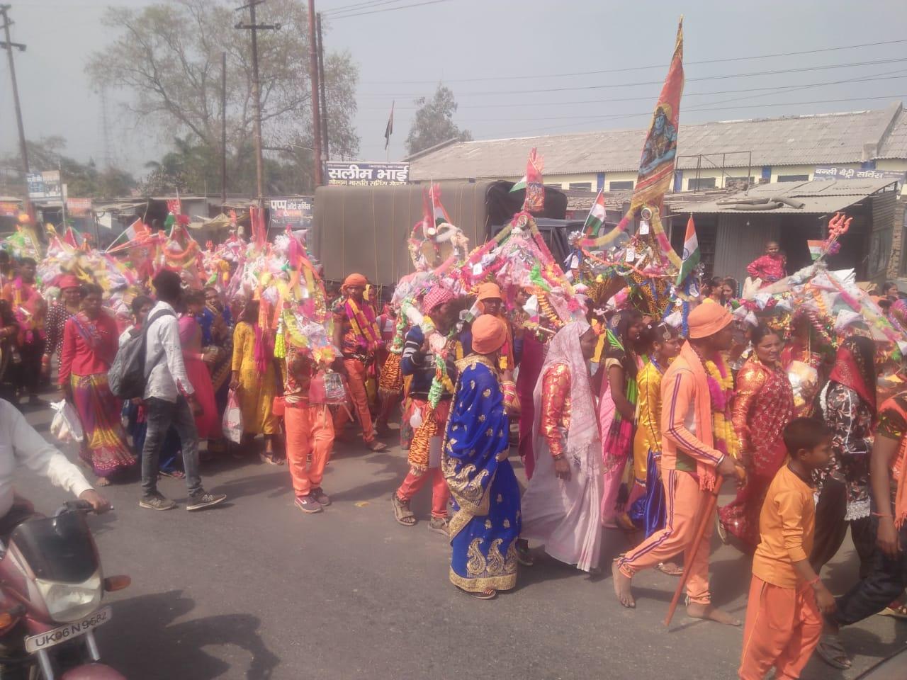 जय भोले से गुंजायमान हो उठा रुद्रपुर शहर
