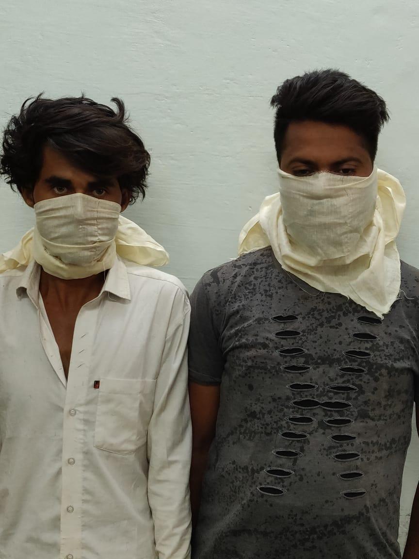 लाखों की ठगी करने वाले दो शातिर राजस्थान से दबोचे