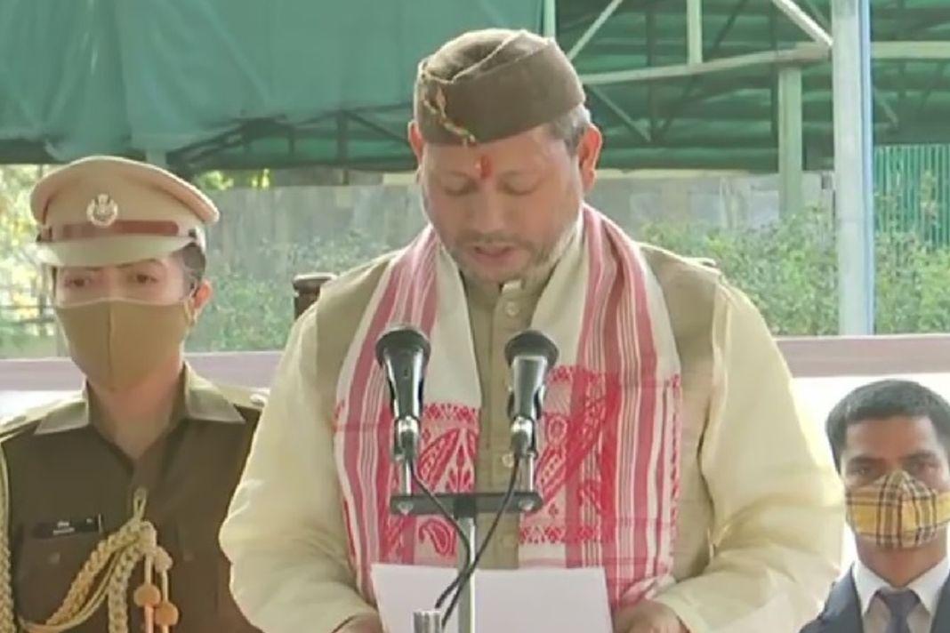 उत्तराखंड के नए मुख्यमंत्री के रूप में तीरथ सिंह रावत ने ग्रहण की शपथ