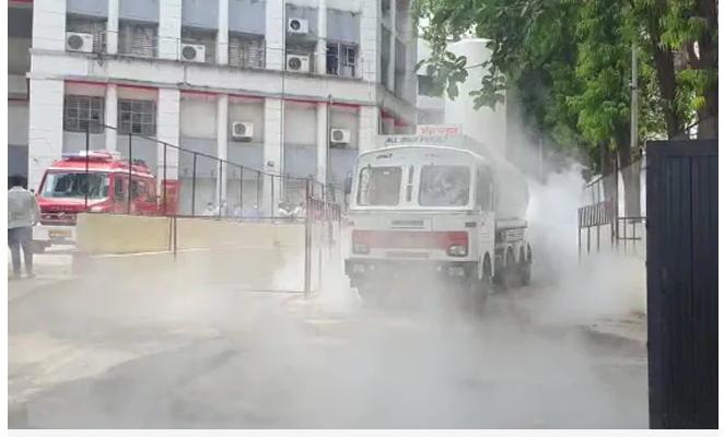 नासिक में ऑक्सीजन टैंकर लीक से 11 लोगों की मौत