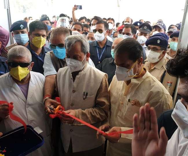 ऋषिकेश में 500 बेड के कोविड अस्पताल मुख्यमत्री तीरथ सिंह रावत ने किया लोकार्पण