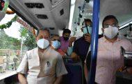 सीएम तीरथ सिंह रावत ने 05 इलेक्ट्रिक बसों को दिखाई हरी झण्डी