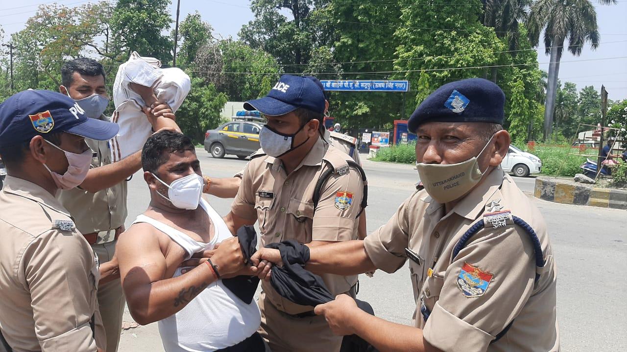 मुख्यमंत्री का घेराव करने जाते कांग्रेसी नेता गिरफ्तार