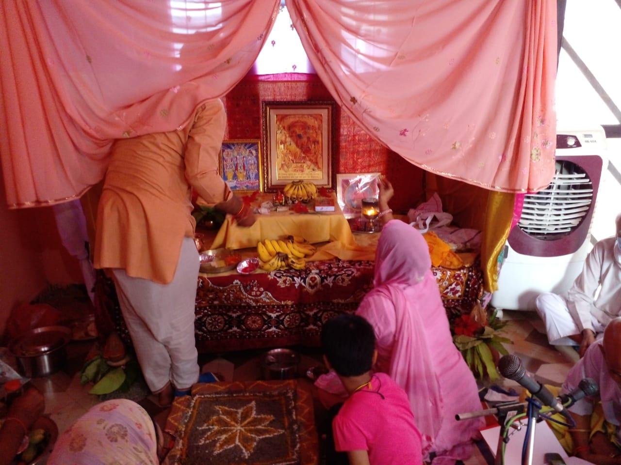 कोरोना की तीसरी लहर रोकने को ब्राह्मण महासभा ने कराया अखंड रामायण का पाठ
