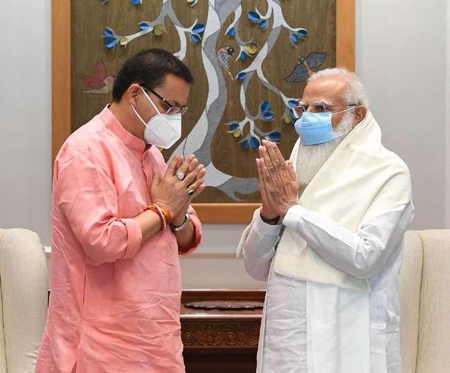 मुख्यमंत्री पुष्कर सिंह धामी ने की प्रधानमंत्री नरेंद्र मोदी से भेंट