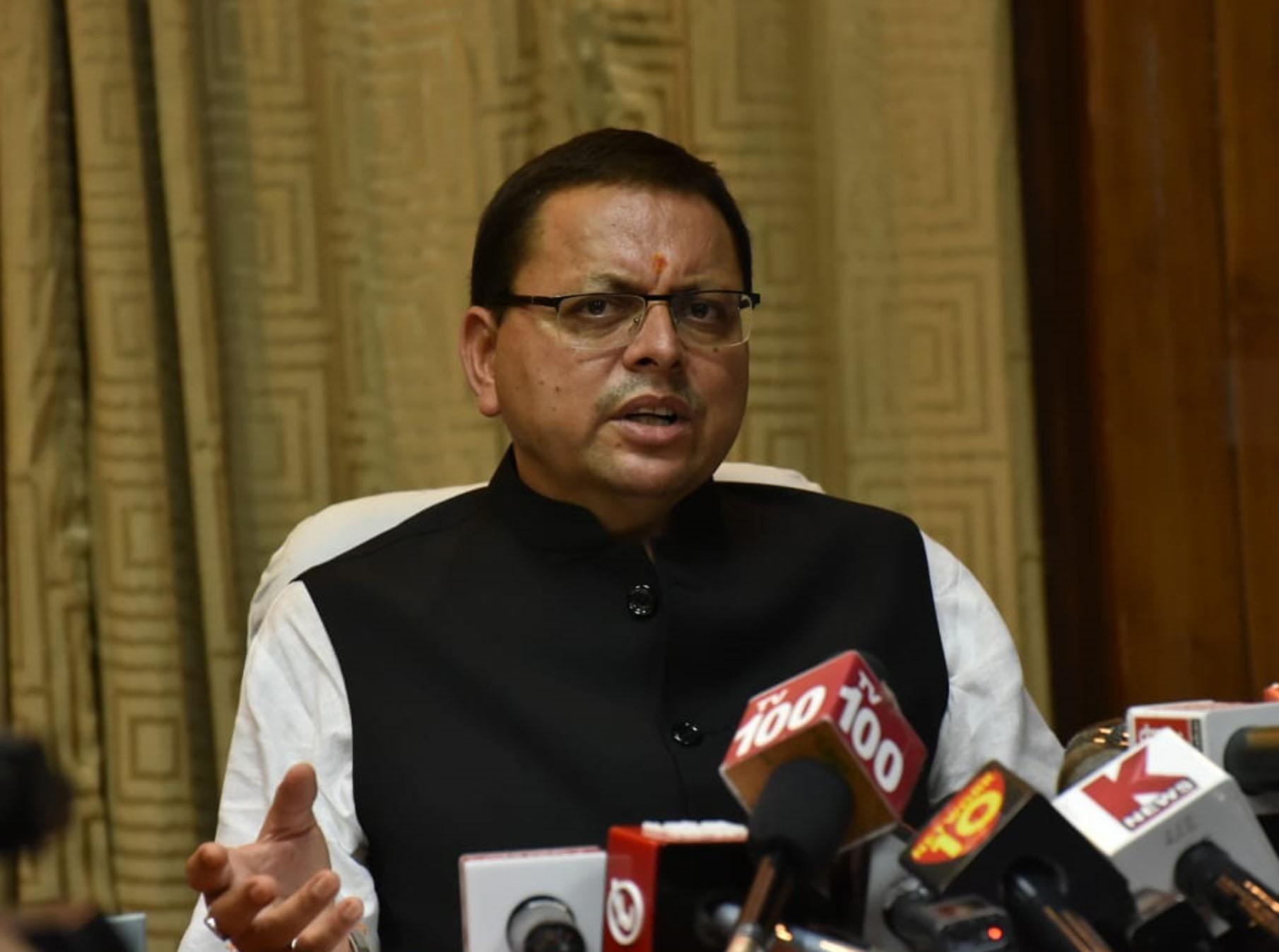 मुख्यमंत्री पुष्कर सिंह धामी का गोपेश्वर दौरा रद्द, लेकिन उत्तरकाशी जाएंगे सीएम