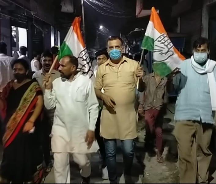रुद्रपुर में पद यात्रा निकाल कांग्रेसियों ने सोई सरकार को जगाया