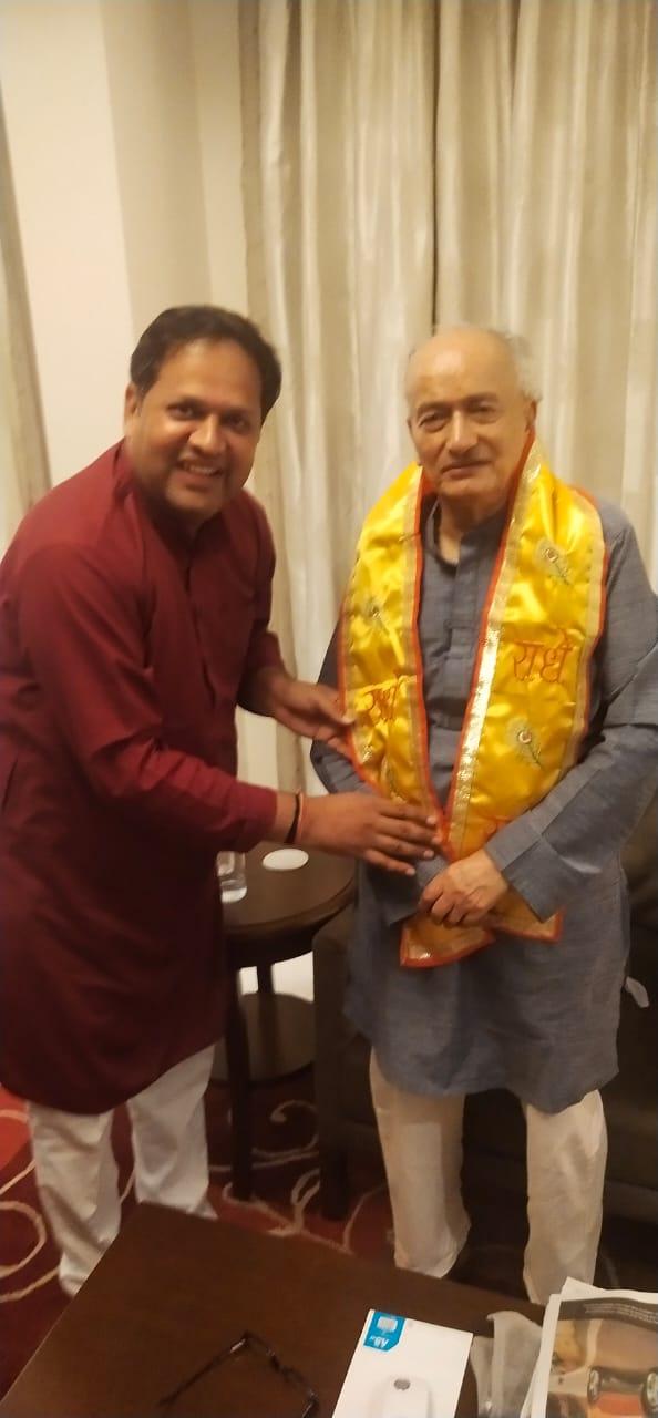 भाजपा नेता शर्मा ने दिल्ली में कोश्यारी से की मुलाकात