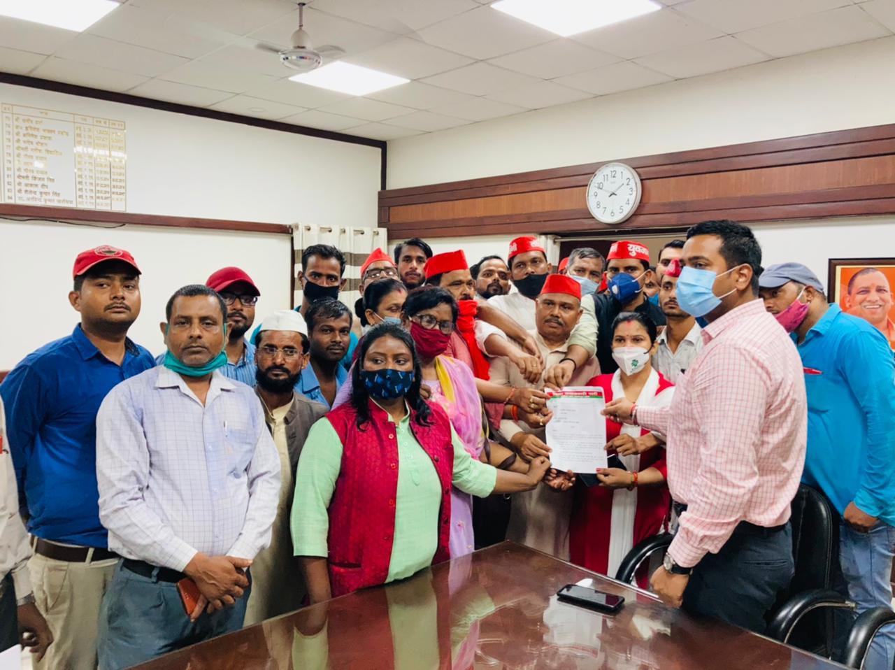 समाजवादी पार्टी के फ्रंटल संगठन ने पसगवां ब्लॉक प्रमुख चुनाव रद्द करने को भरी हुंकार