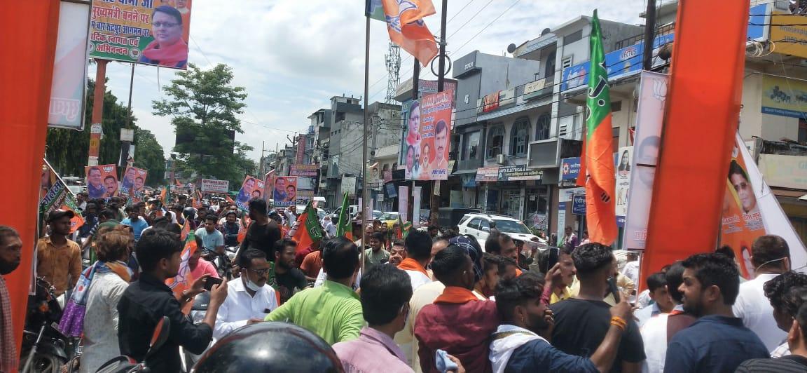 रुद्रपुर में मुख्यमंत्री पुष्कर सिंह धामी का भव्य स्वागत बाइक रैली से भाजपाइयों ने दिखाई ताकत