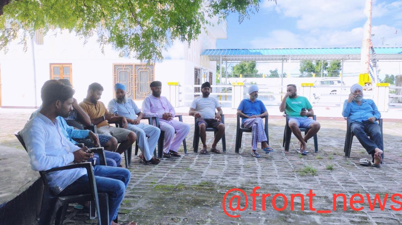 गुरुद्वारा साहब में बैठक कर शारदा कटान से बचने को लगाई गई जुगत