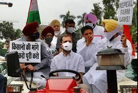 राहुल जिस ट्रैक्टर से संसद पहुंचे वो हुआ जब्त, नंबर प्लेट तक नहीं लगी थी
