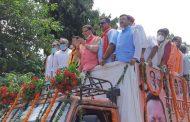 रुद्रपुर में मुख्यमंत्री पुष्कर सिंह धामी का रोड शो, कार्यकर्ताओं में दिखा उत्साह