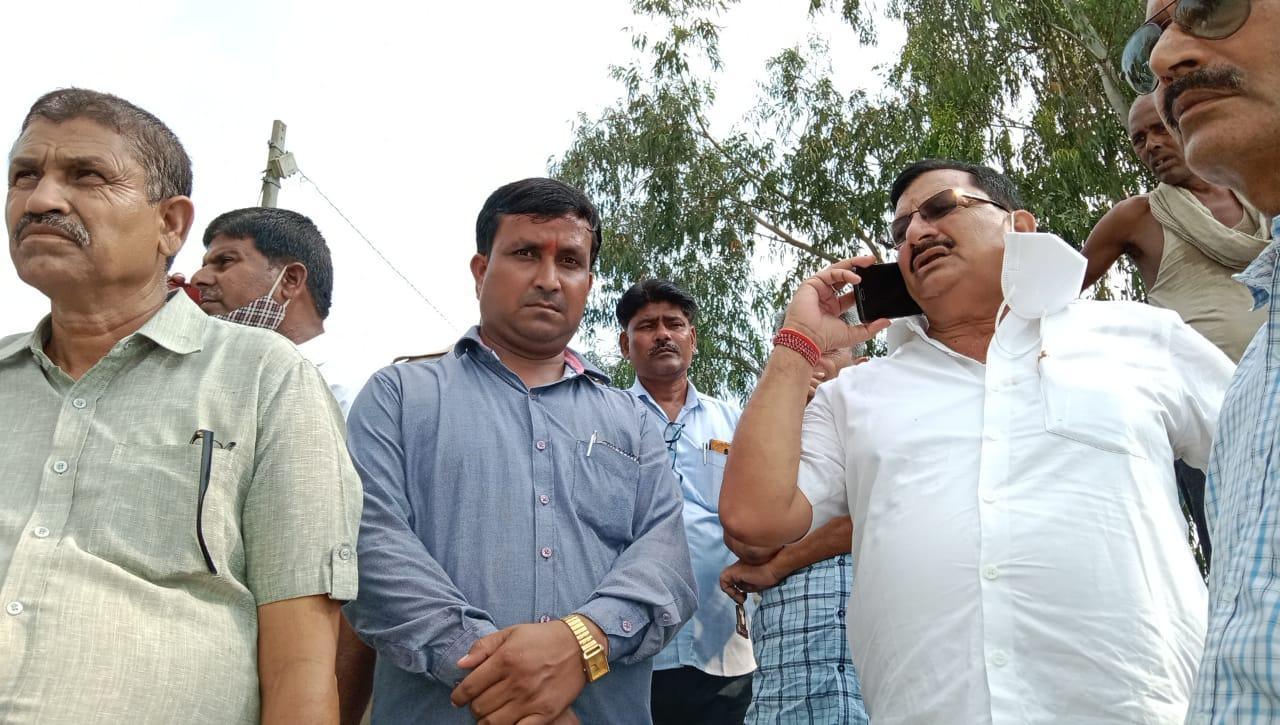 आखिर विधायक अरविंद गिरि के पहुंचते ही अफसरों को भी नजर आया कटान का डर और दर्द