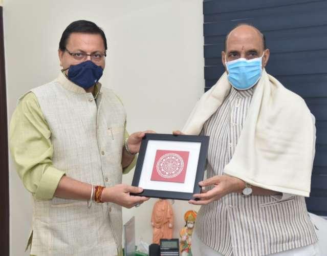 टनकपुर-बागेश्वर ब्रॉडगेजरेल लाइन की संस्तुति के लिए मुख्यमंत्री धामी ने किया रक्षा मंत्री राजनाथ सिंह से अनुरोध
