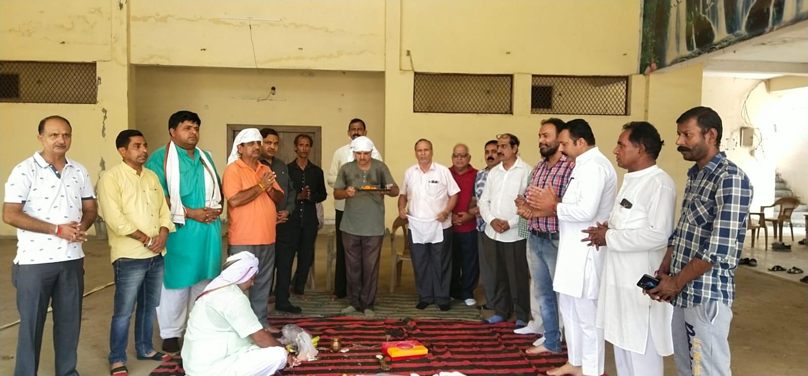 नगर के मुख्य रामलीला में हुई मंच पूजा, 5 अक्टूबर से होगी भव्य रामलीला