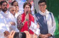 बाराबंकी में प्रियंका गांधी की घोषणा, किसानों का कर्ज माफ करने के साथ 20 लाख लोगों को सरकारी नौकरी