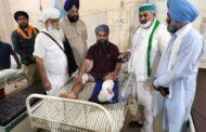 घायलों का हाल जानने चीमा हॉस्पिटल पहुंचे राकेश टिकैत