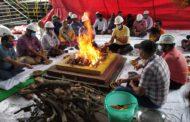 गुलरिया चीनी मिल में हुई ब्यालर पूजा